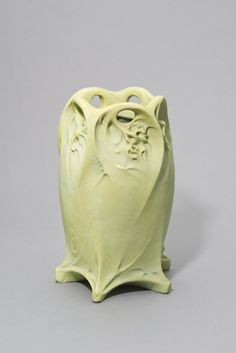 1899 Hector Guimard designed Art Nouveau Stoneware Vase. Executed by Edmond Lachenal.