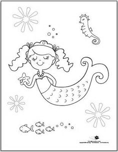 baby mermaid sheets Colouring Pages Picture 181