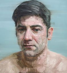Colin Davidson - Pure To Another  (Portrait of Brian Kennedy)   2011  oil on linen  127 x 117 cm