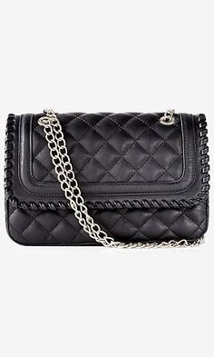 WHIPSTITCH QUILTED CHAIN STRAP SHOULDER BAG
