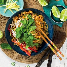 Do you know anyone who doesn't love a flavour-packed, nutty, chicken pad thai? Make it for dinner this weekend. Tamarind Paste, Lime Wedge, Fish Sauce, Thai Recipes, Wok, Food Styling, Poultry, Food Photography, Food Porn