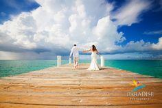 Colorful Caribbean Beach Wedding Portrait www.MyParadisePhoto.com