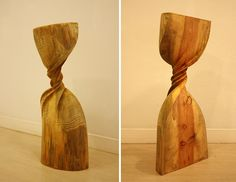Twisted and Curled Forms Carved from Pine Wood by Xavier Puente Vilardell