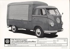 VW - 1958 - VW-Pritschenwagen mit Leichtmetall-Jalousieaufbau - w 2/54d - [1601]-1