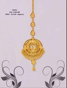 Gold Jhumka Earrings, Gold Earrings Designs, Gold Jewellery Design, Gold Necklace, Tikka Jewelry, Wedding Jewelry, Jewelery, Rajputi Jewellery, Gold Headpiece