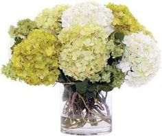 Add an elegant touch to your entryway console or living room coffee table with this lovely faux hydrangea arrangement, showcasing lush blossoms nestled in a . Faux Flower Arrangements, Hickory Chair, Entryway Console, Green Hydrangea, Coming Up Roses, Faux Flowers, Living Room Chairs, Centerpieces, Blossoms