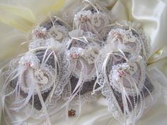 Victorian Potpourri Sachets Lace, Ribbons and Pearls For Bridal Showers and More