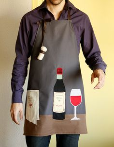 wine apron | Explore filsetficelles photos on Flickr. filset… | Flickr - Photo Sharing!                                                                                                                                                      Más