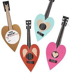 DIY Rock Star Valentines ~ plus other card & garland ideas  :)