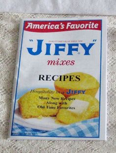 """Jiffy Mixes Recipes Hospitality in a """"JIFFY""""  PB 66 pages cooking food favorites"""