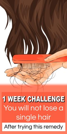 1 Week Challenge – Do This Treatment For 1 Week And You'll Not Lose A Single Hair haircaretips haircare diyhair hairfall healthyhair hairloss hairlosstips 626141154424241707 Argan Oil For Hair Loss, Best Hair Loss Shampoo, Hair Shampoo, Why Hair Loss, Hair Loss Women, Hair Growing Tips, Homemade Hair Treatments, Chi Hair Products, Natural Hair Loss Treatment