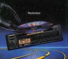 Technics Car CD player -  www.1001hifi.com Music Jam, Car Amplifier, Electronics Gadgets, Loudspeaker, Audio Equipment, Audiophile, Car Audio, Vintage Cars, Bass