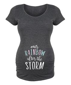 Another great find on #zulily! Heather Charcoal 'Our Rainbow' Maternity Scoop Neck Tee #zulilyfinds