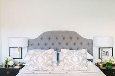 Grey bed head