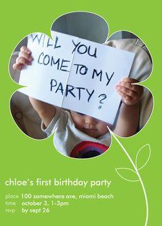 great invitation idea!!
