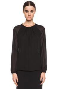 Altuzarra Air Chiffon Blouse In Black $750.00 - Buy it here: https://www.lookmazing.com/altuzarra-air-chiffon-blouse-in-black/products/6073646?shrid=2507_pin