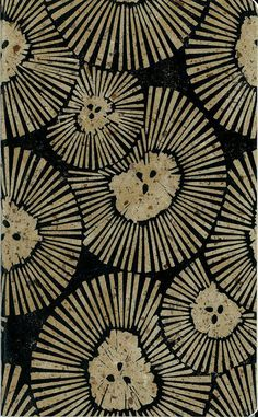 GRAPH PAPER JOURNAL - Chrysanthemum Cover - Block Printed Cover - Large Journal