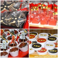 #cupcakes #mintobe #brigadeiros #Ninja #Ninjago #Lego #boutiquefestas Boutique Festas