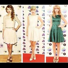 Taylor at the BBC Radio 1 Teen Awards from 2010 - 2013 <3.  Which is your favorite look? I have to go with 2010--it's overall one of my favorite looks!