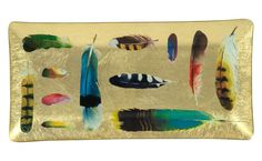 Feather Collection Tray 9x4.5 $35