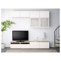 Ikea Inspiration, Wall Storage, Storage Spaces, Media Storage, Record Storage, Centro Tv, Glass Shelves, Floating Shelves, Frame Shelf