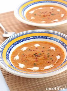 Sweet Potato Soup with Bell Peppers, Lemon & Thyme from http://meatified.com #paleo #glutenfree #whole30
