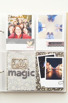 Instax style frames with Washi tape and embellishment