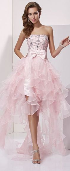 Elegant Prom Dress, Stylish A-Line/Princess Sleeveless Beading Strapless High Low Organza Homecoming Dresses Stay on trend with this beautiful prom dresses at Prom Dress Shop. Browse our latest collections, styles, and prices for prom Classy Prom Dresses, Affordable Prom Dresses, High Low Prom Dresses, Lace Homecoming Dresses, Unique Prom Dresses, Plus Size Prom Dresses, Ball Gowns Prom, Mermaid Evening Dresses, Beautiful Prom Dresses