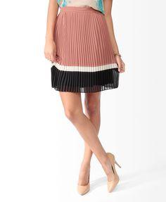 Pleated Colorblock Skirt   FOREVER21 - 2019571556
