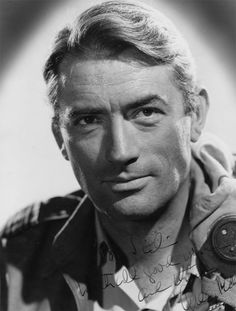 Gregory Peck, one of my favorite actors growing up!