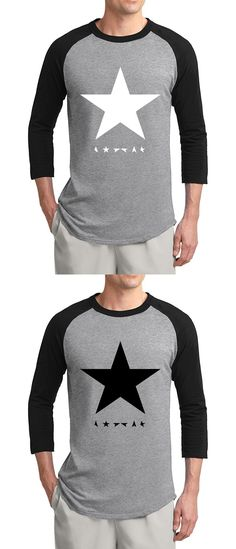 fashion David Bowie heroes black star posters 2017 summer hot sale 3/4 sleeve t shirts 100% cotton raglan men t-shirt for fans