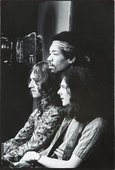 Mitch Mitchell, Jimi Hendrix, and Noel Redding
