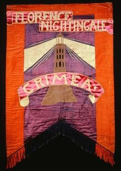Figure 1 - A Suffragette Banner celebrating Florence Nightingale