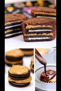 peanut butter Oreo cookie brownie