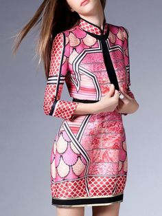 Printed  Mini Dress with Cropped Jacket