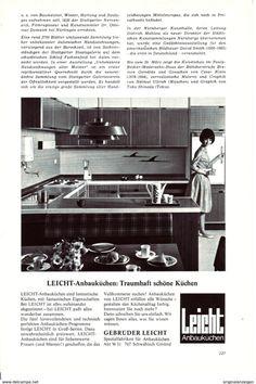 Werbung - Original-Werbung/ Anzeige 1968 - LEICHT KÜCHEN - ca. 150 x 230 mm