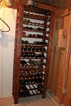 "DYI wine rack for your ""wine cellar"""