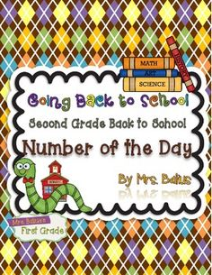 Are you looking for a second grade math review that may be used on the first day of school?  From  Mrs Balius's First Grade:  Going Back to School: Second Grade Number of the Day. $
