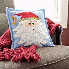 felt Santa pillow