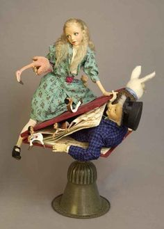 Mark A Dennis, one of a kind dolls, Alice Clay Dolls, Art Dolls, Alice In Wonderland Doll, Wonderland Party, Go Ask Alice, Adventures In Wonderland, Paperclay, Through The Looking Glass, Dollhouse Dolls