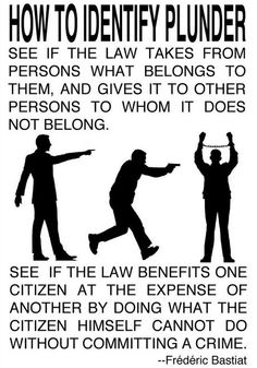 How to identify plunder by Frederic Bastiat.