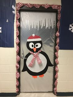 CUTE! Office Christmas Decorations, School Decorations, Arctic Decorations, Halloween Classroom Door, Preschool Craft Activities, Christmas Bulletin Boards, Winter Wonderland Decorations, January Crafts, Door Ideas