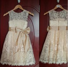 Online Shopping 2015 Hot Sales Lovely Real Image Lace Flower Girl Dresses Removable Bow Sash Sleeveless Scoop Neckline Vintage Long Kid's Gowns 32.46 | m.dhgate.com
