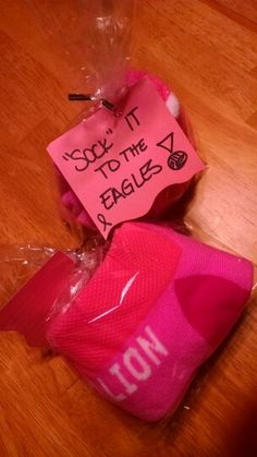 Breast cancer awareness gift for volleyball team-sock it to em