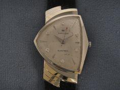 Very Rare -Hamilton Elec. 14K White Gold Diamond Dial Ventura