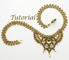 Tutorials by Jewelry Tales: . . . When you want to tell your own story.    This necklace appeared in the Spring 2011 issue of Perlen Poesie; these are my original instructions, written in English. This is an advanced project, for beaders who are very comfortable following bead diagrams and who are experienced with most seed bead stitches. If you are an intermediate beader who has successfully completed one of my easier beaded chain projects, you will find this project challenging, but…