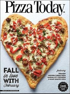 heart pizza for valentine day
