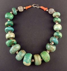 Vintage morroccan amazonite necklace | ethnicadornment
