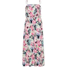 Manon Baptiste Pink / Multicolour Plus Size Printed maxi dress ($170) ❤ liked on Polyvore featuring plus size women's fashion, plus size clothing, plus size dresses, dresses, pink, plus size, print maxi dress, women plus size dresses, sleeveless dress and pink ruffle dress