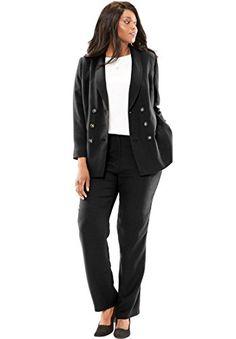 f849b53a388c0 Women s Plus Size Petite Double Breasted Pantsuit Pantsuits For Women